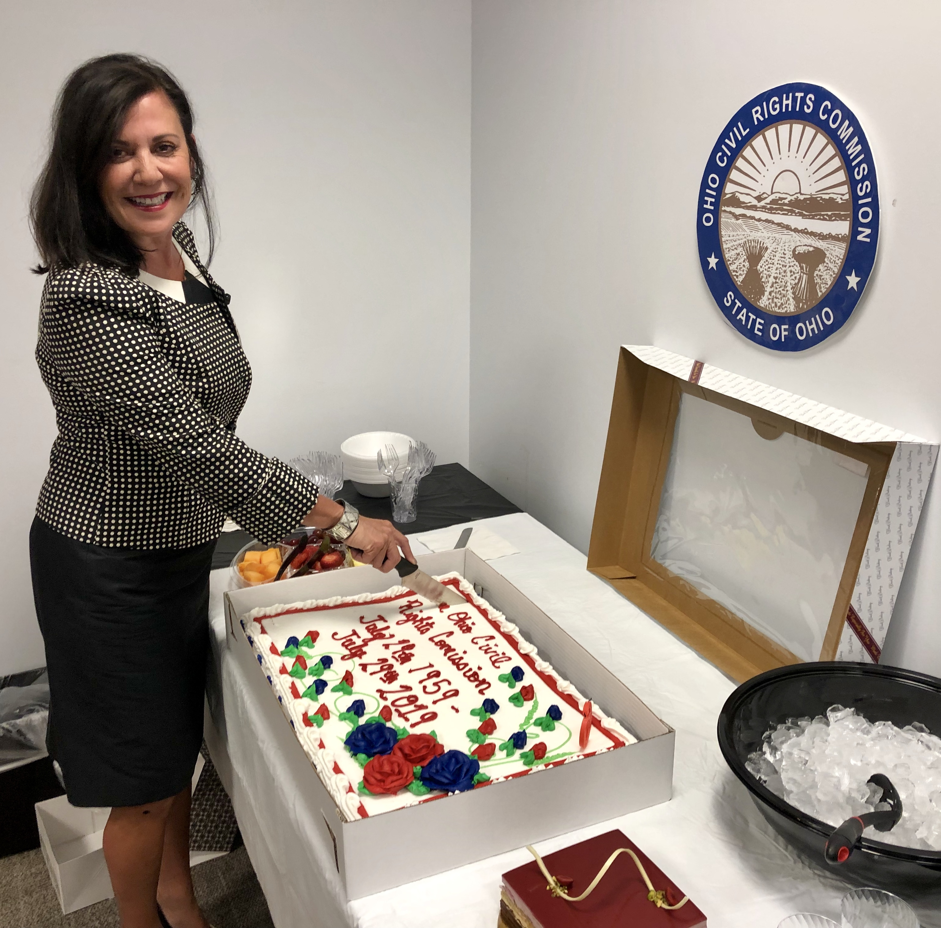 Photo of Chair Barreras cutting cake