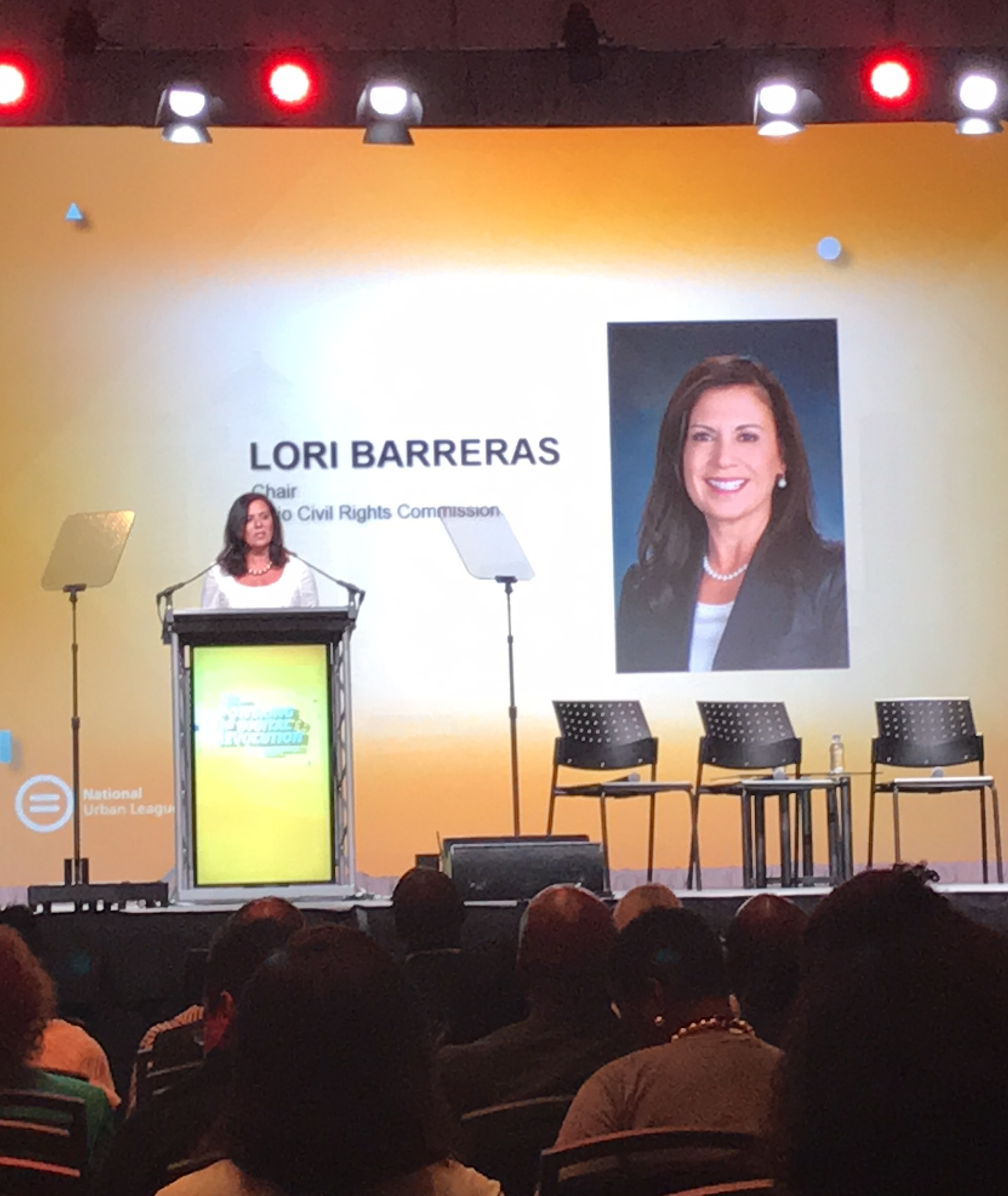 Photo of Chair Barreras at National Urban League Conference