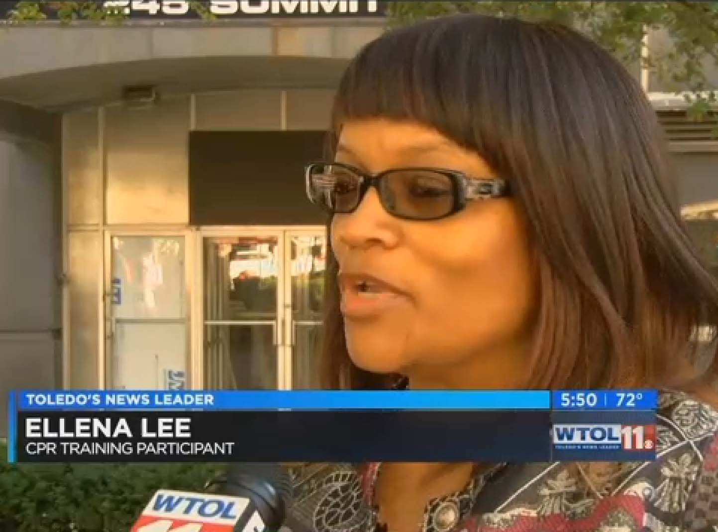 Photo of Ellena Lee interviewed on 10TV
