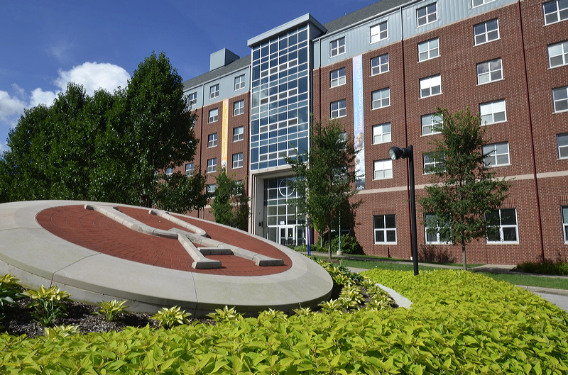 Photo of University of Akron campus on a sunny day