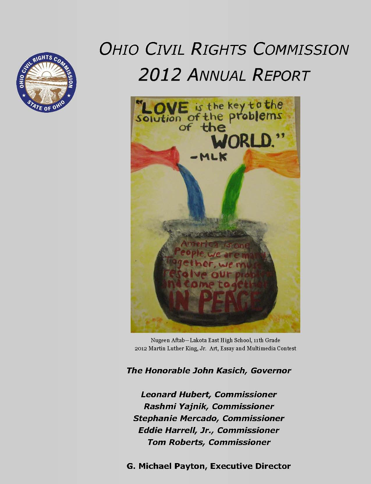 cover of 2012 Annual Report