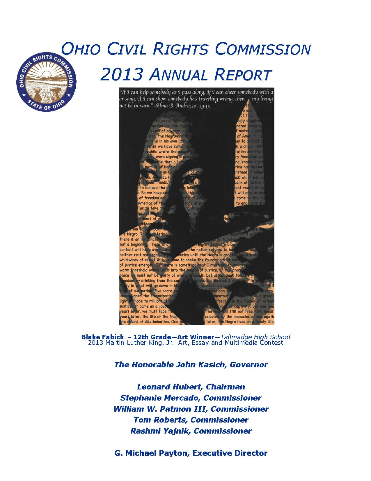 cover of 2013 Annual Report